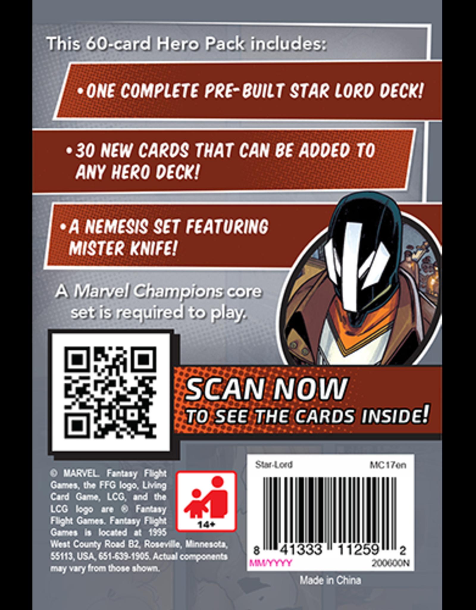 FFG Marvel Champions LCG: Star-Lord Hero Pack