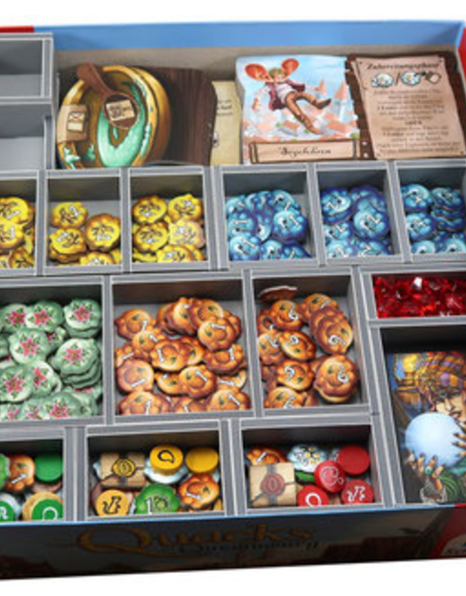 Folded Space Box Insert: Quacks of Quedlinburg and Expansions
