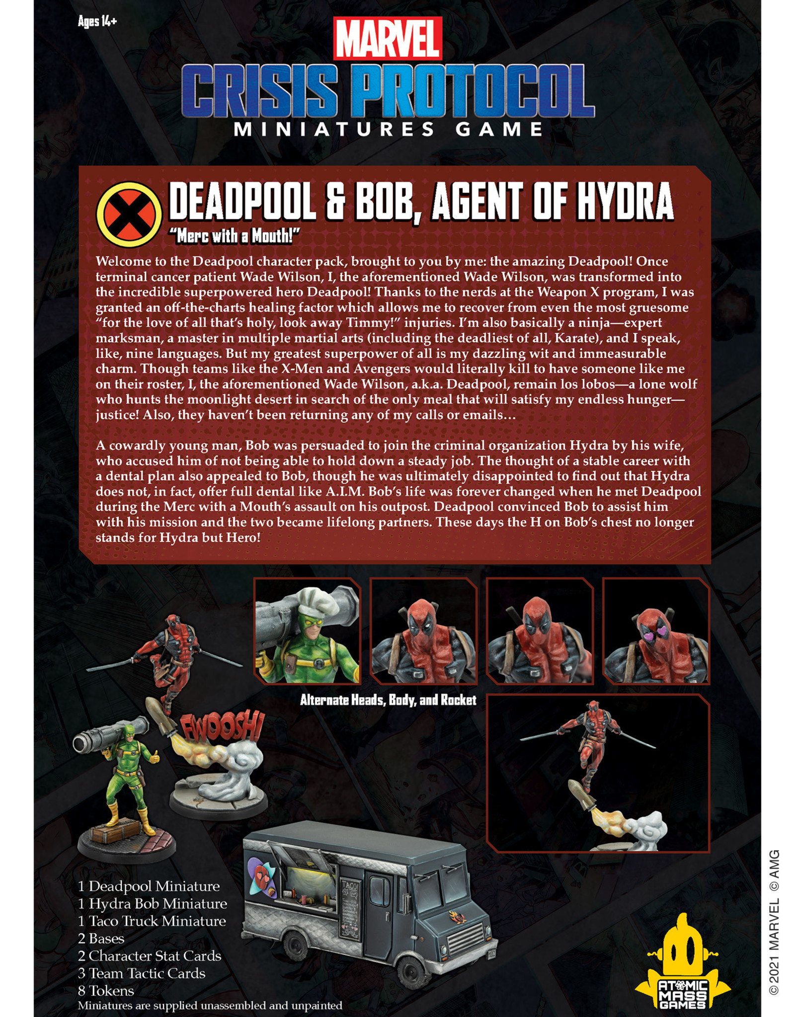 Atomic Mass Marvel Crisis Protocol: Deadpool & Bob, Agent of Hydra Character Pack