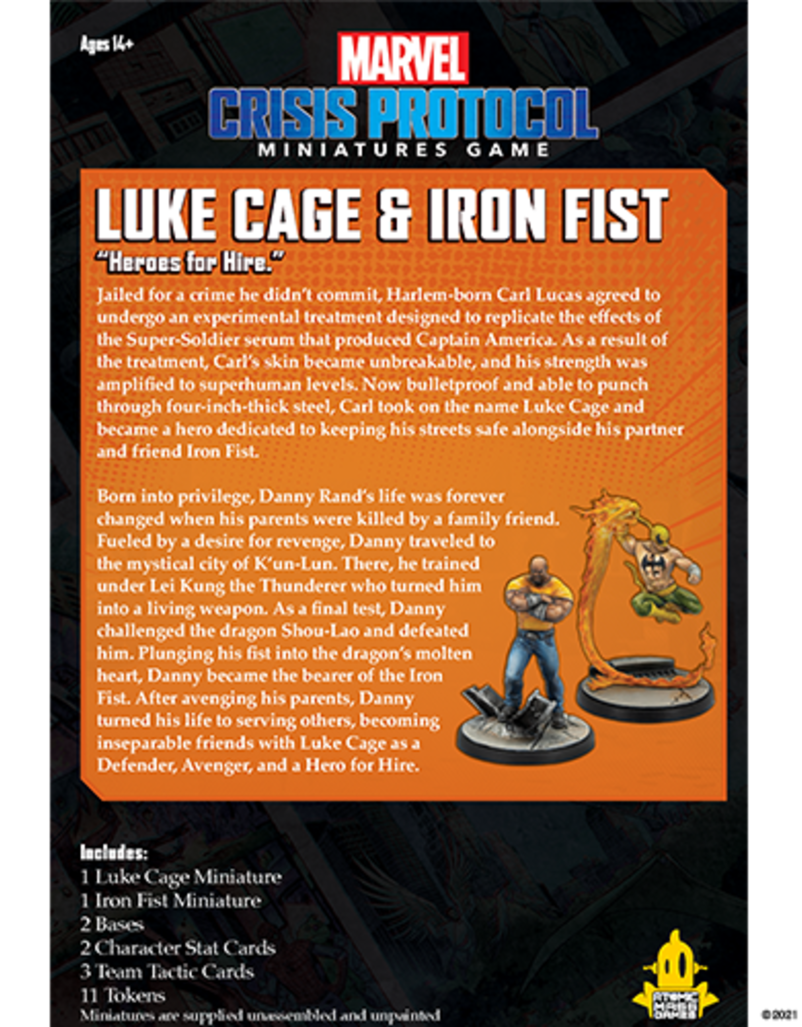 Atomic Mass Marvel Crisis Protocol: Luke Cage and Iron Fist Character Pack