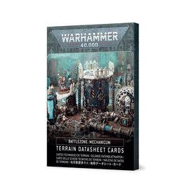 Games Workshop Warhammer 40K: Battlezone Mecanicum Terrain Datasheet Cards