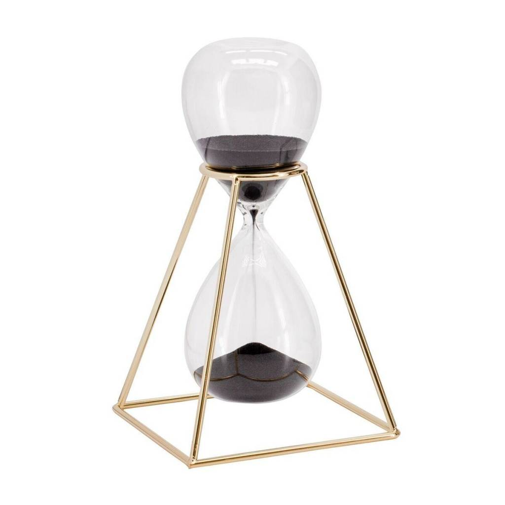 Torre & Tagus Hour Glass With Stand: Gold