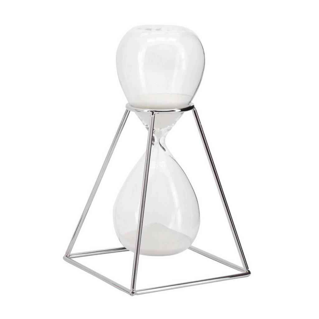 Torre & Tagus Hour Glass With Stand: Silver