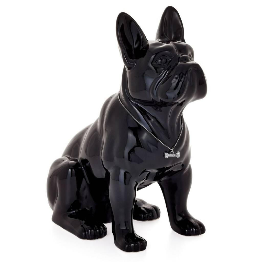 Torre & Tagus Sitting French Bulldog: Black