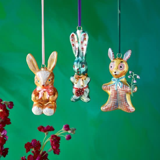 NL Bunny Ornament Assorted, Glass