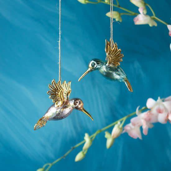 GV Hummingbird Ornament, Assorted, Glass