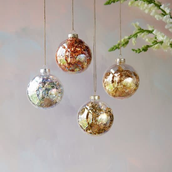 GV Large Foil Ball Ornament Assorted, Glass, 4""