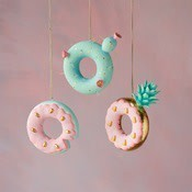 Cactus, Pinneapple, Donut ornament,  Assorted