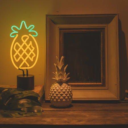 Amped Neon Pineapple Desk Lamp