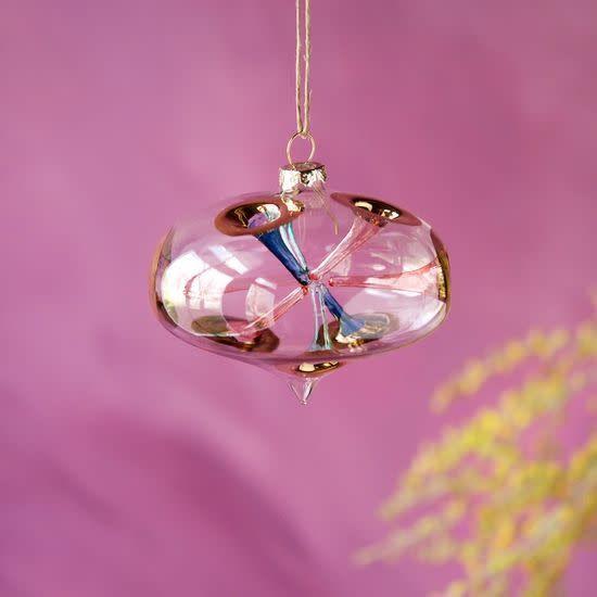 "Horn Globe Orn. Glass 4"""