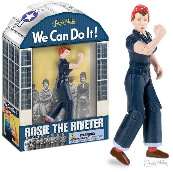 Archie McPhee Rosie The Riveter action figure
