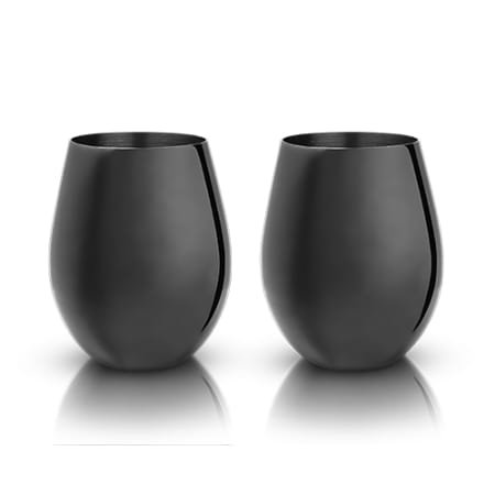 Gunmetal Black Stemless Wine Glass