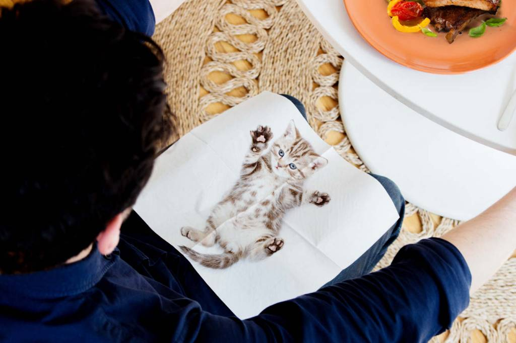 SuckUK Cat Napkin