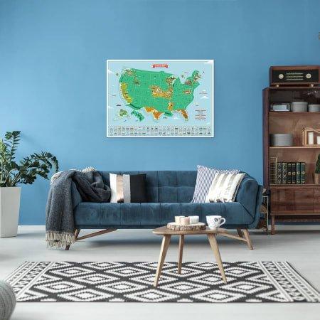 Scratch Map USA Landmarks