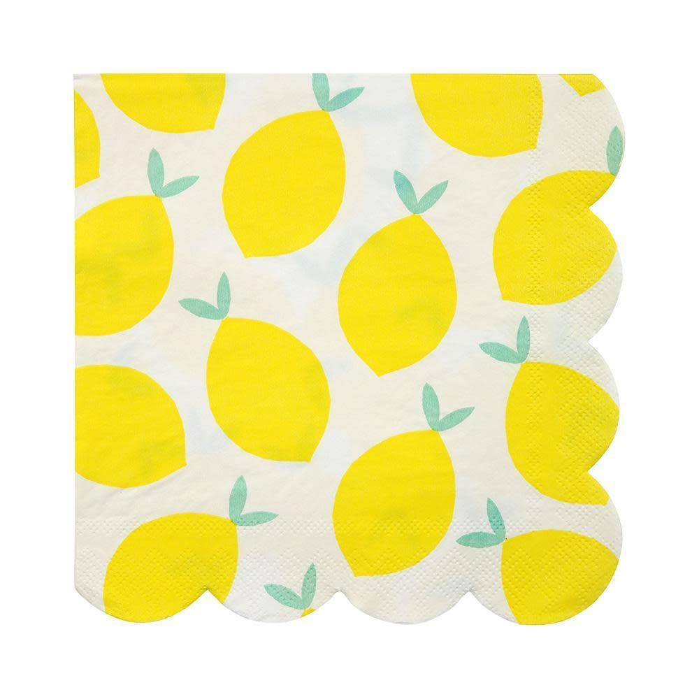Meri Meri Lemon Napkin Large