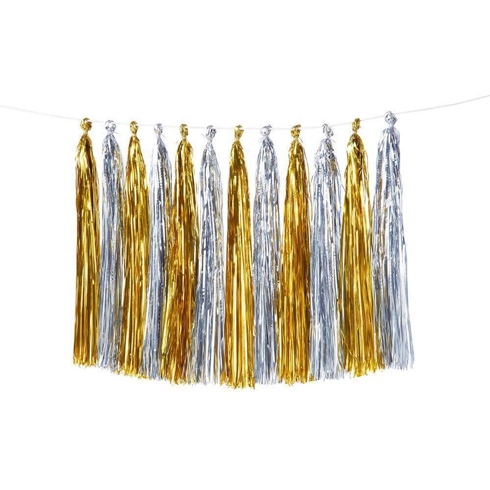 Meri Meri Gold & Silver Tassel Garland