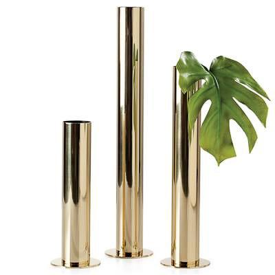 Torre & Tagus Set of 3 Gold Vases