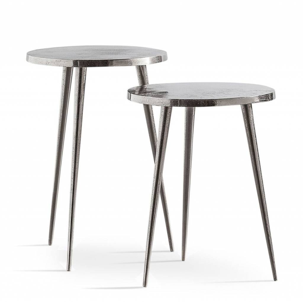 Torre & Tagus Aluminum Pin Leg Nested Tables