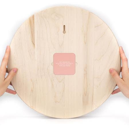 taitdesigncompany Rose Solid Maple Wall Clock