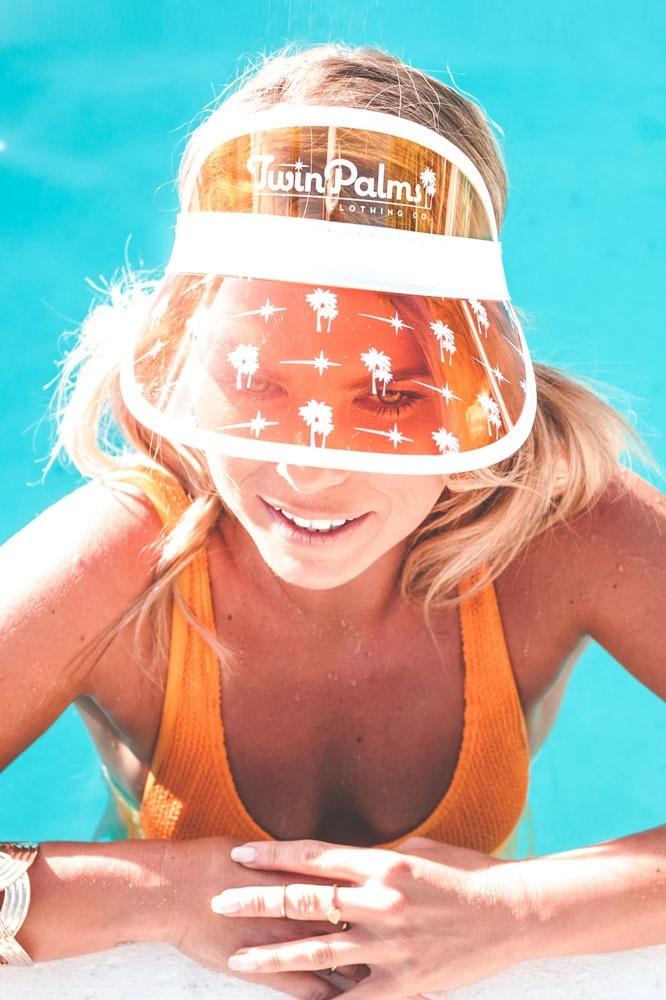 Twin Palms Stars & Palms Unisex Sun Visor