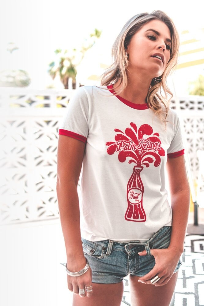 Twin Palms Palm Springs Soda Ringer Tee