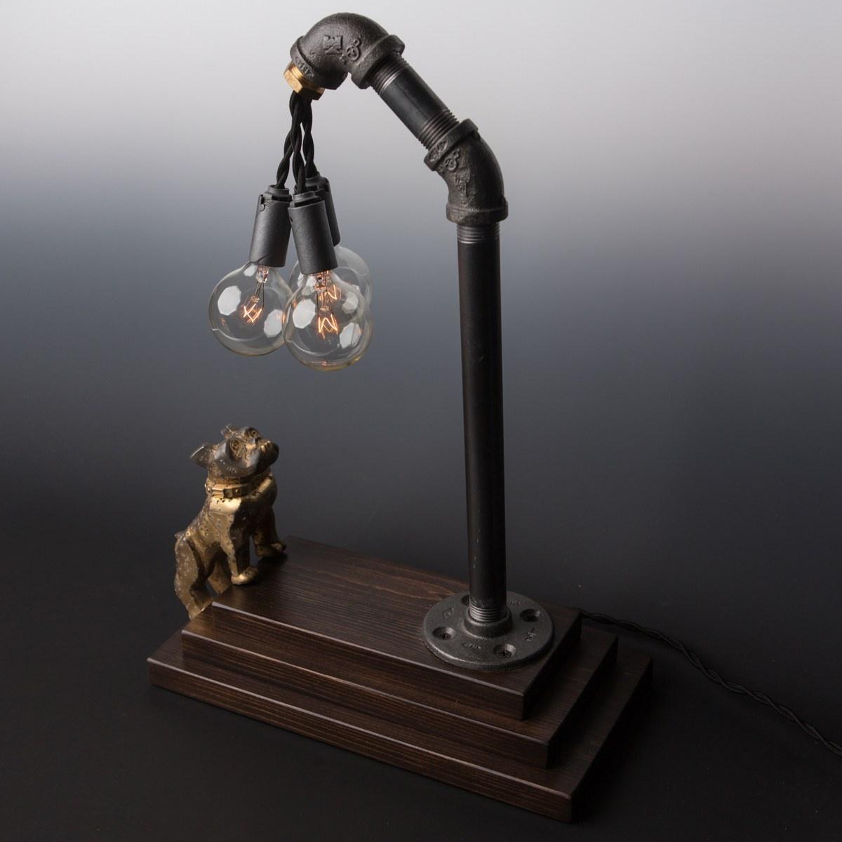 Luke Hobbs Mack Truck Bulldog Lamp in Brass