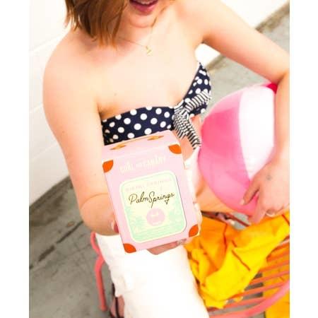 Coal And Canary Bikini Strings in Palm Springs
