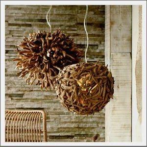 Roost Driftwood Sea Urchin Chandelier
