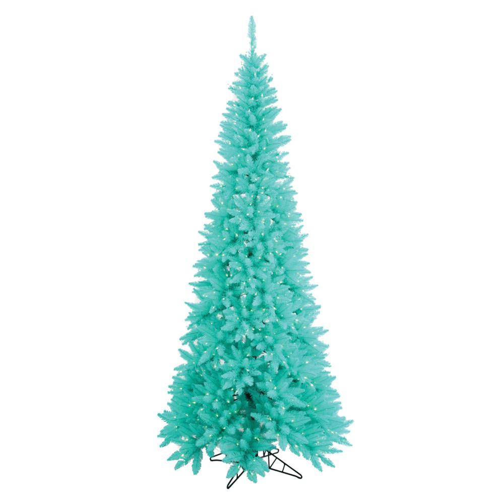 vickerman Slim Fir Aqua Tree