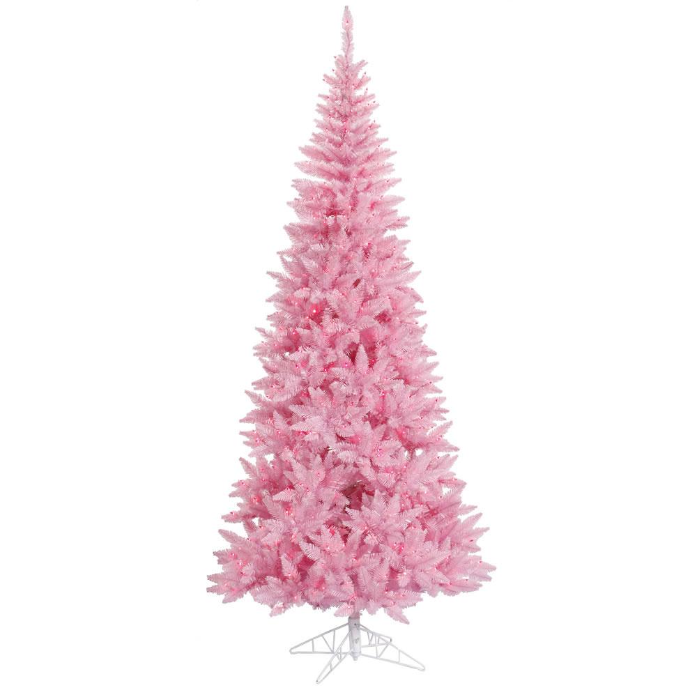 vickerman Slim Fir Pink Tree