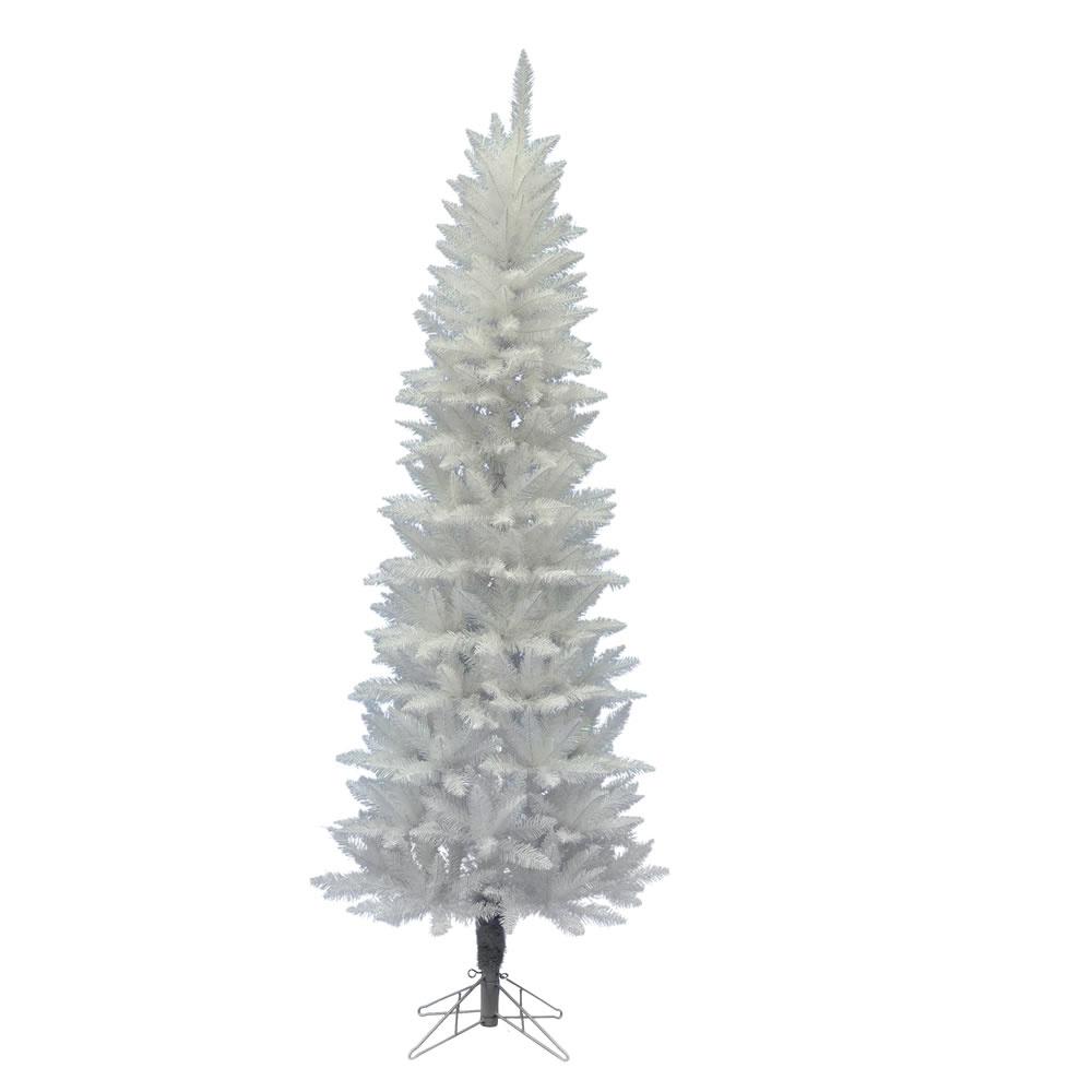 vickerman Sparkle White Pencil Tree