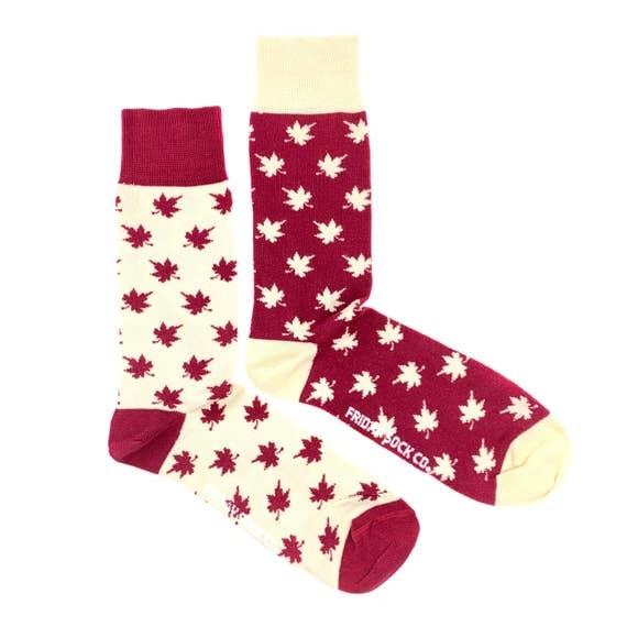 fridaysockco Canada Maple Leaf socks