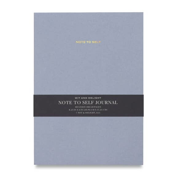 Wit & Delight Note To Self Journal Light Blue