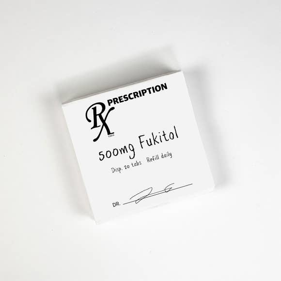 Twisted Wares Fukitol RX Cocktail Napkins