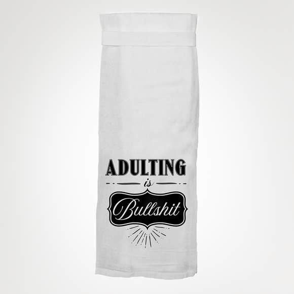 Twisted Wares Adulting Is BS Tea Towel