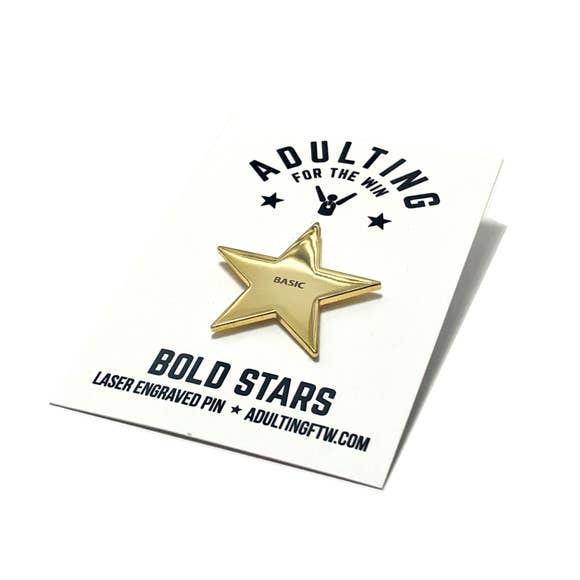 AdultingFTW BASIC gold star pin