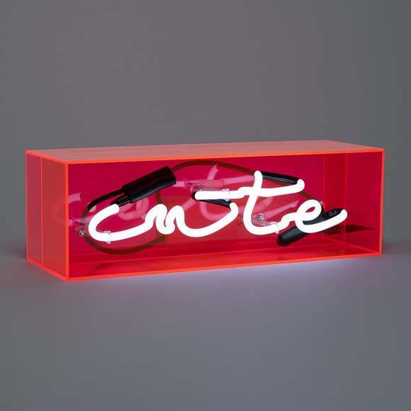 Amped Cute- real neon acrylic box sign, limited edition