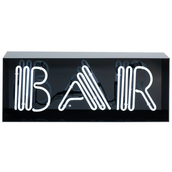 Amped Bar- real neon acrylic box sign, limited edition