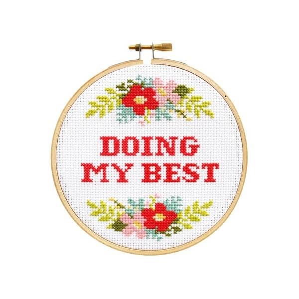 The StrandedStitch Doing My Best Cross Stitch Kit