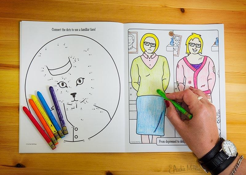 Archie McPhee Crazy Cat Lady coloring book