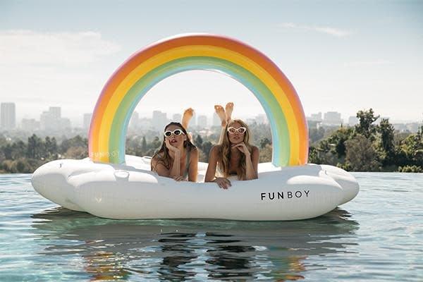 Funboy Inc. Inflatable Rainbow Cloud