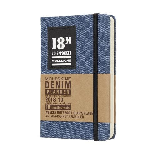 Hachette Denim Weekly Notebook Planner 18m