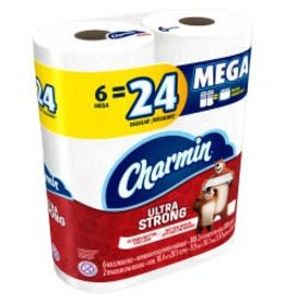 Charmin Charmin Ultra Strong Mega Roll, 6 ct (Pack of 4)