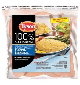 Tyson Foods Tyson Boneless/Skinless Natural IQF Chicken Breast, 2.5 lb, 12 ct