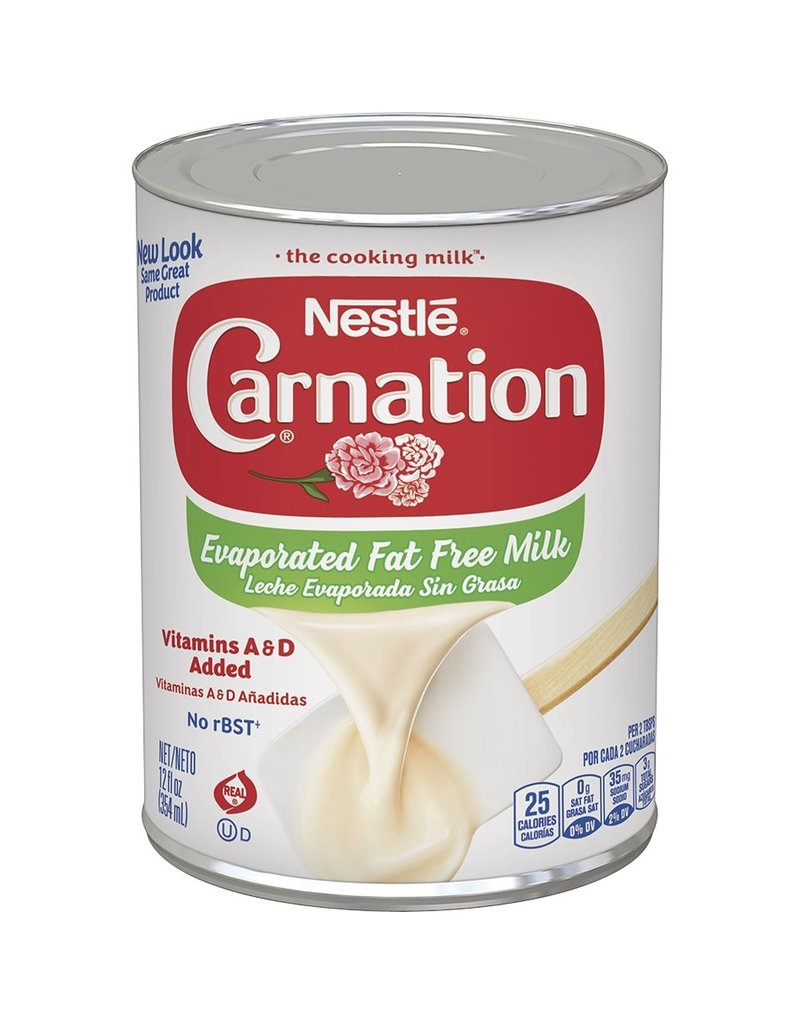 Carnation Carnation Evaporated Milk Fat Free, 12 oz, 24 ct