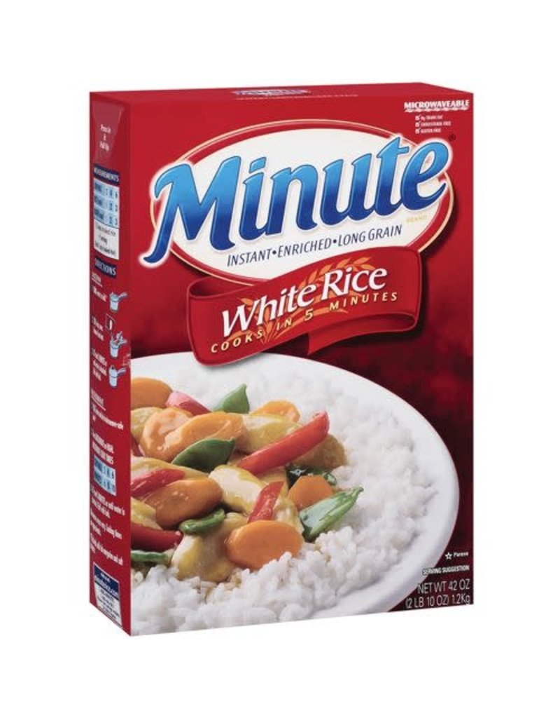 Minute Rice Minute Rice White Long Grain Instant, 42 oz