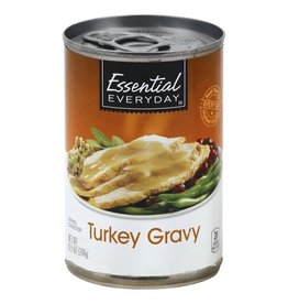 Essential Everyday EED Canned Turkey Gravy, 10.5 oz, 24 ct