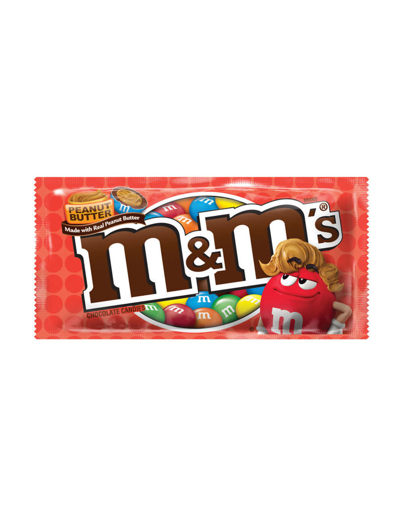 M&M M&M's Peanut Butter Chocolate Candies, 1.63 oz, 24 ct