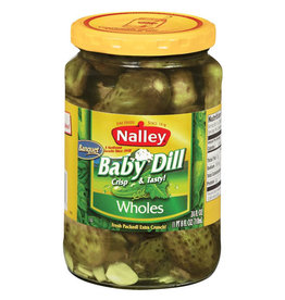Nalley Nalley Dill Baby Banquet Pickles, 24 oz, 12 ct
