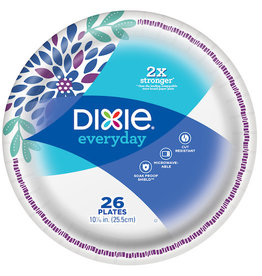 Dixie Dixie Coordinates Plates 10'', 26 ct (Pack of 8)